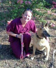 MWD Kira J080 (USN, RETIRED!!) was reunited in San Diego, CA, with her former handler KT