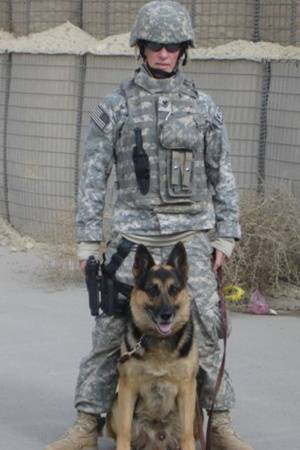 Handler Kathleen Ellison and partner MWD Riki