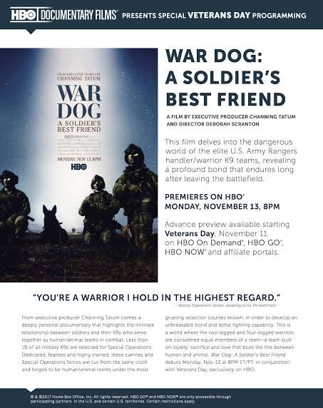 WAR DOG: A SOLDIERS BEST FRIEND